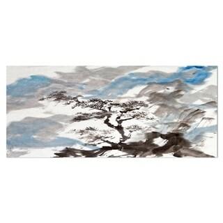 Designart 'Chinese Pine Tree' Trees Metal Wall Art