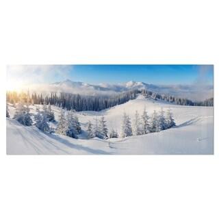 Designart 'Winter Mountains Panorama' Photography Metal Wall Art