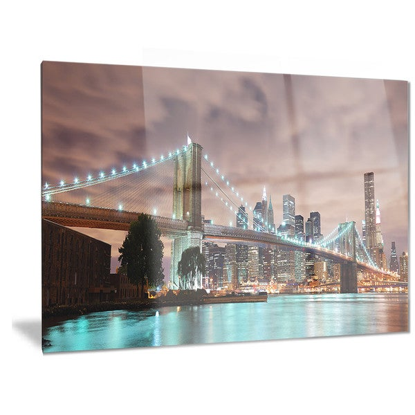 Designart New York City Skyline Panorama 5 Piece Wall: Designart 'New York City Panorama' Cityscape Photography