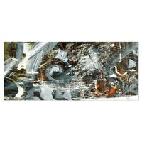 Designart 'Contemporary Abstract Design' Abstract Metal Wall Art