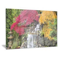 Designart 'Japanese Maple Trees' Floral Photography Metal Wall Art