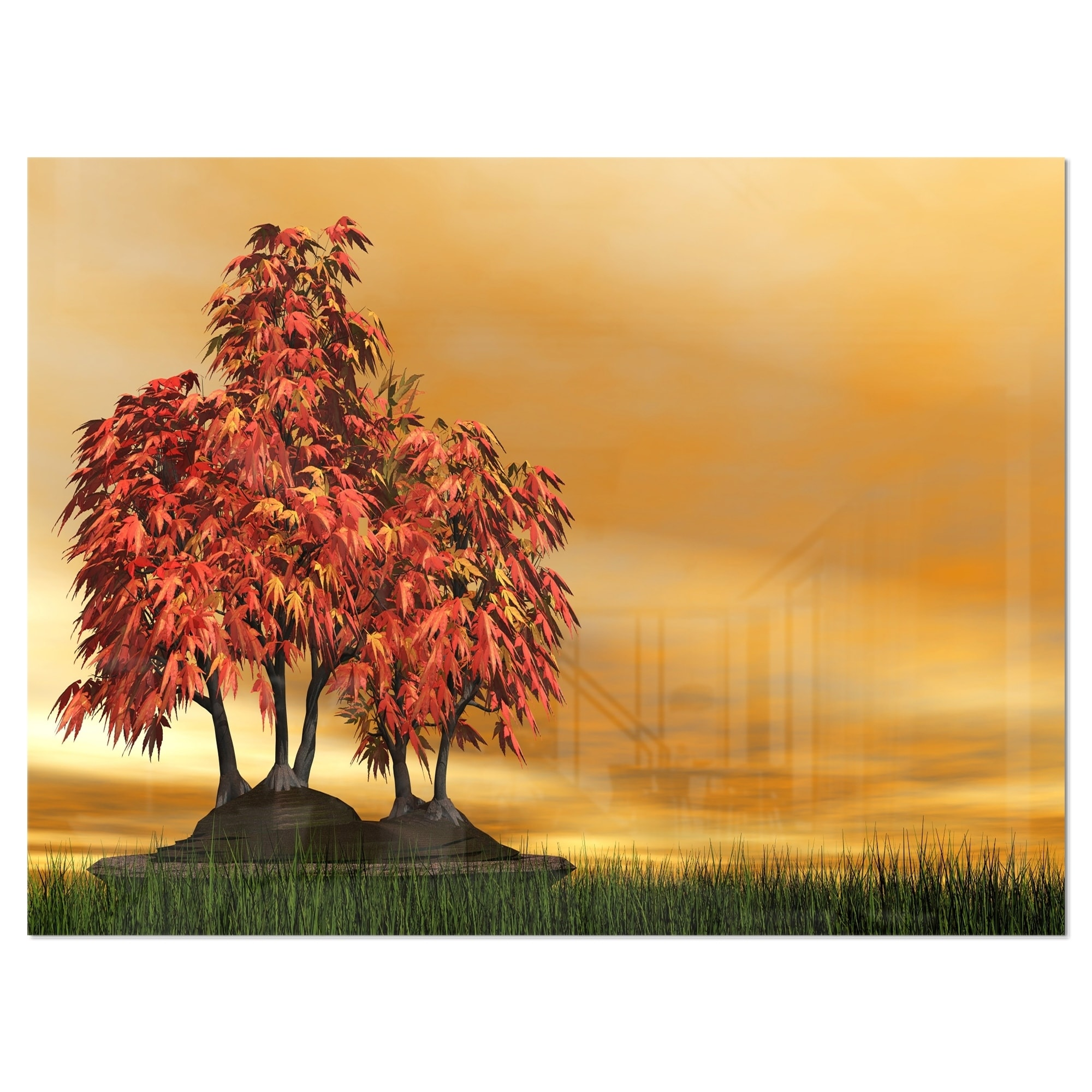 Designart Bonsai Landscape Photography Metal Wall Art Overstock 11867815