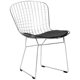 Edgemod Morph EM-108-BLK-X4 Chrome Wire Dining Side Chair (Set of 4)