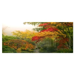 Designart 'Colorful Maple Trees' Floral Photography Metal Wall Art
