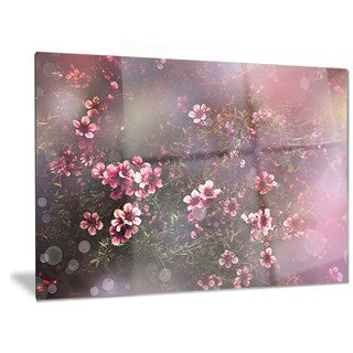 Designart 'Sakura Japanese Cherry' Photography Floral Metal Wall Art