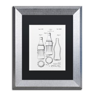 Claire Doherty 'Coca Cola Bottle Patent 1937 White' Matted Framed Art