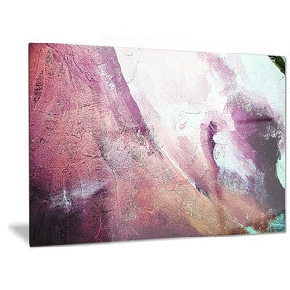 Designart 'White and Purple Texture' Abstract Metal Wall Art
