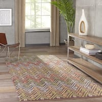 "Momeni Tangier Multicolor Hand-Tufted Wool Runner Rug - 2'3"" x 8'"