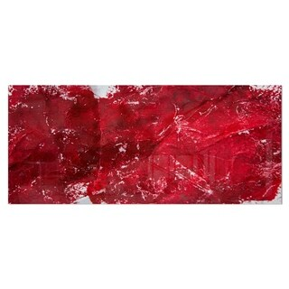 Designart 'Abstract Red Texture' Abstract Metal Wall Art