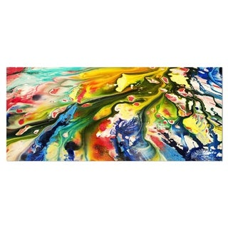Designart 'Mixed Oil Color Texture' Abstract Metal Wall Art