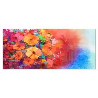 Designart 'Bouquet of Gerbera Flowers' Floral Metal Wall Art