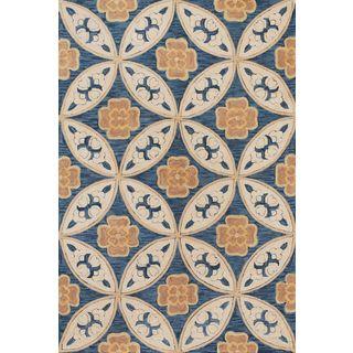 Milan 2137 Blue Mosaic Rug (9' x 13')