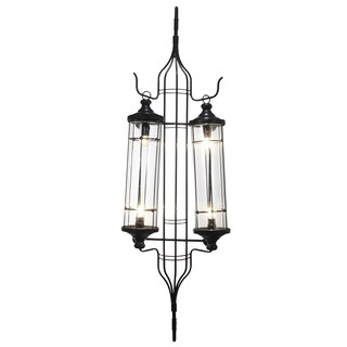 Carriage Lantern Brown Metal 19-inch x 8.2-inch x 59.5-inch Wall Sconce