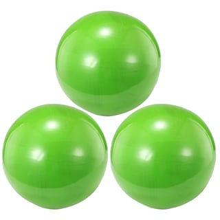 Decorative Lime Green 4-inch x 4-inch Balls (Set of 3)