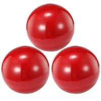 Red 4-inch Decorative Balls (Set of 3)