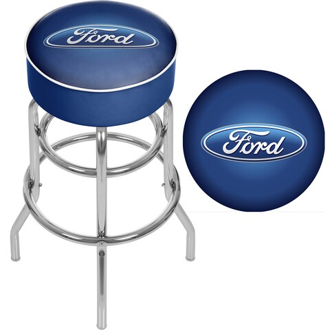 Ford Padded Swivel Bar Stool - Ford Oval