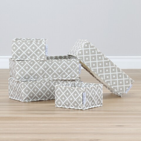 South Shore Storit Fabric/Polyester Diamond Pattern Drawer Organizer (Pack of 5)