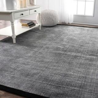 nuLOOM Handmade Flatweave Solid Casual Grey Rug (5' x 8')