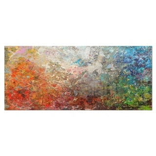 Designart 'Board Stained Abstract Art' Abstract Metal Wall Art