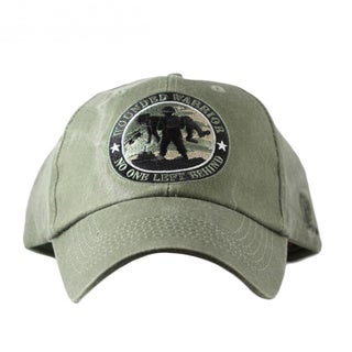 Jewelglo Wounded Warrior Grey Embroidered 'No One Left Behind' Cap