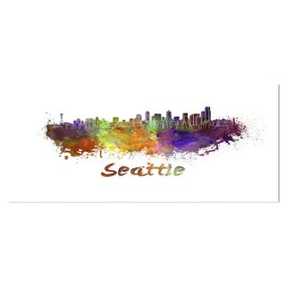 Designart 'Seattle Skyline' Cityscape Metal Wall Art
