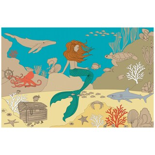 Flat River Group Llc. Lullubee Ocean World Print Giant Paper Coloring Mural