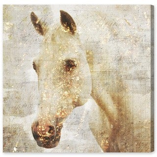 Aurelle Home Abstract Horses Quot Mustang Quot Acrylic Canvas Art