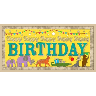 Lullubee Paper 30.25-inch x 1.5-inch x 1.5-inch Giant Birthday Parade Coloring Mural