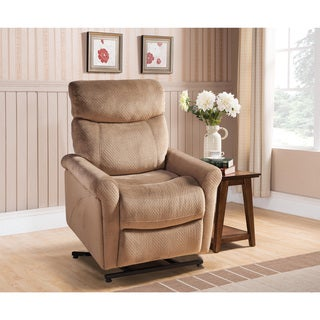 Kyler Tan Polyester Power Reclining Lift Chair