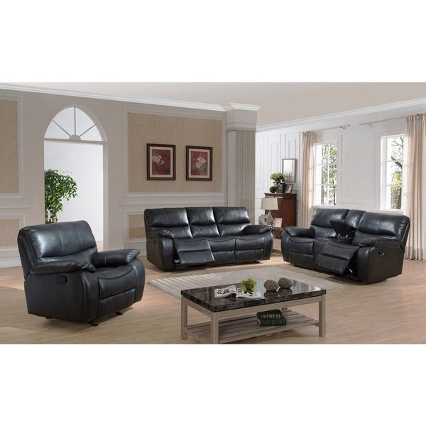B751 Transitional Reclining Sectional With Storage Console: Evan Transitional Reclining Sofa, Loveseat With Storage
