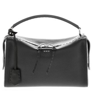fendi designer bags z1t3  Fendi 'Lei Selleria' Grained Leather Single Handle Boston Bag