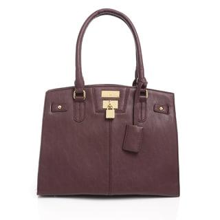 BCBG Women's Paris Chic Story Merlot Leather Zipper Closure Handbag