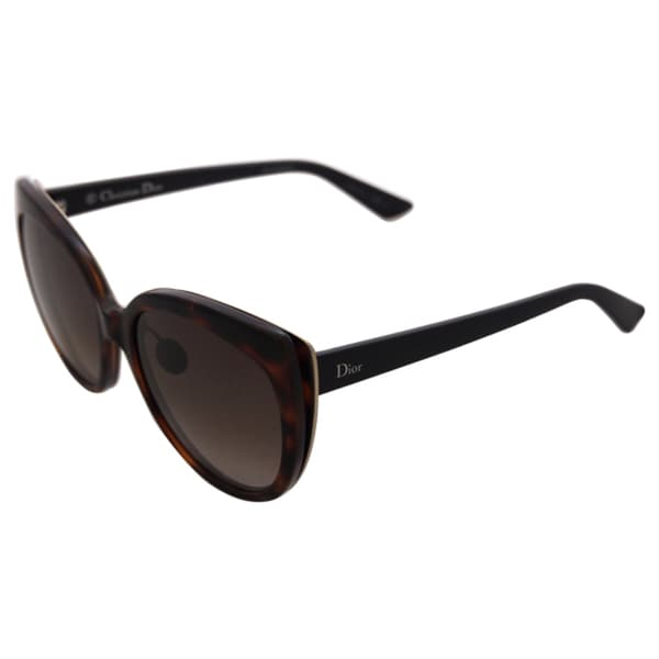 1f4156bcef Dior Diorific 1N 3BZHA Womens Havana Matte Black Gold 57 mm Sunglasses -  havana