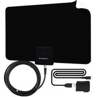 Uniko Pacific Trading Supreme Amplified Boostwaves Razor HDTV Indoor Antenna with RG6 Cable