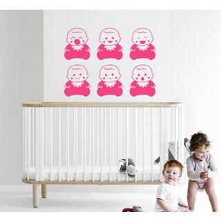 Many babies Wall Art Sticker Decal Pink