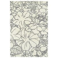 Hand-Tufted Seldon Ivory Floral Stencil Rug - 3' x 5'