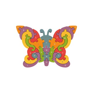 BeginAgain Toys Wood Butterfly A to Z Puzzle
