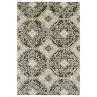 Hand-Tufted Seldon Mushroom Floral Rug (9'0 x 12'0)