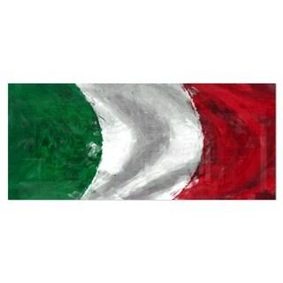 Designart 'Italy Flag' Contemporary Metal Wall Art