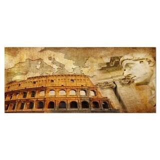 Designart 'Great Roman Empire' Digital Art Collage Metal Wall Art