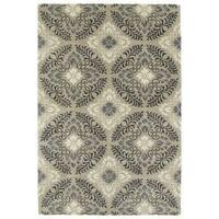Hand-Tufted Seldon Mushroom Floral Rug (8'0 x 10'0) - 8' x 10'