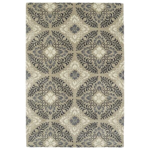 Hand-Tufted Seldon Mushroom Floral Rug (3' x 5') - 3' x 5'