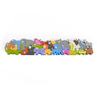 BeginAgain Toys Animal Parade A to Z Wooden Jumbo Size Puzzle