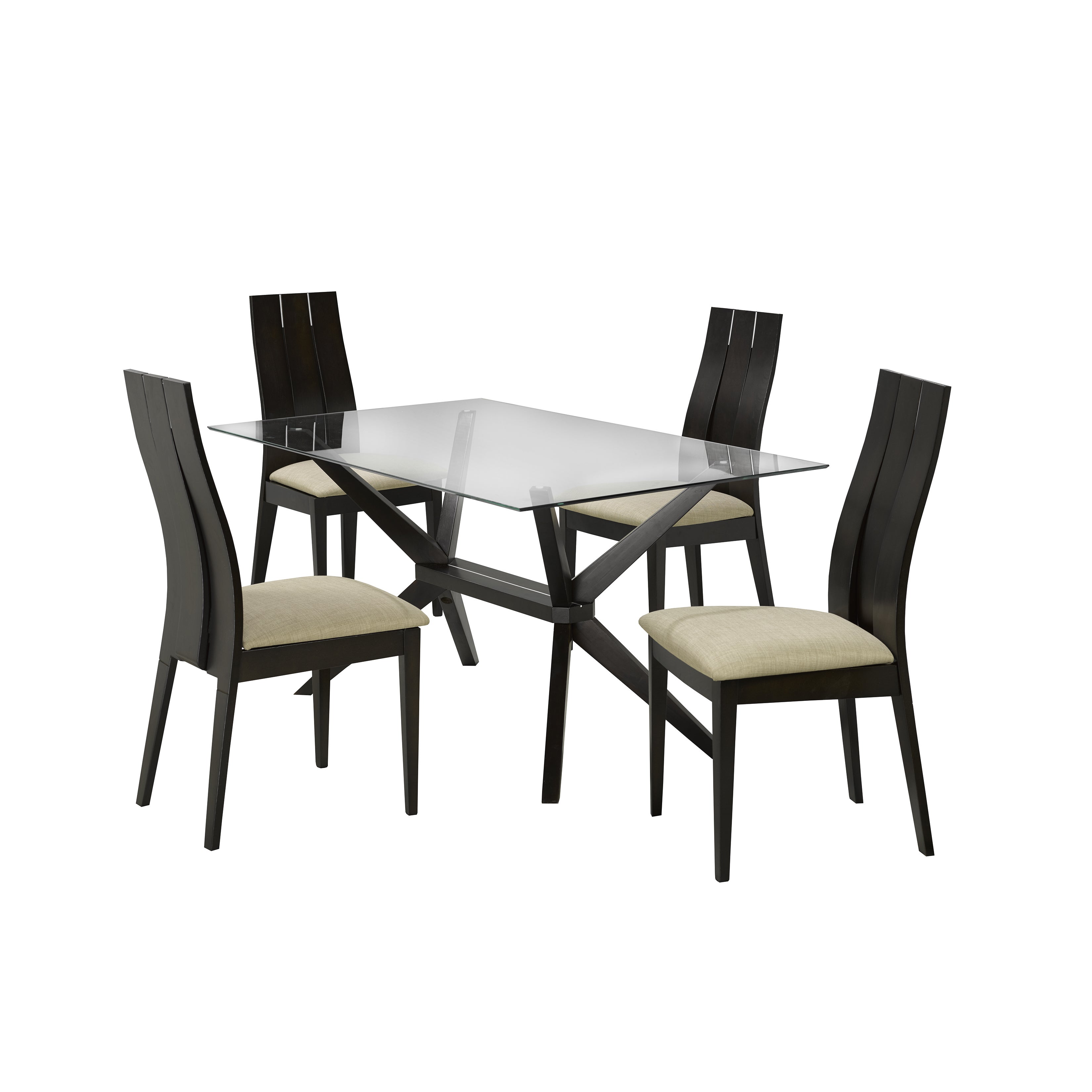 Picture of: Modern Rectangle Glass And Wood Dining Kitchen Table On Sale Overstock 11868564