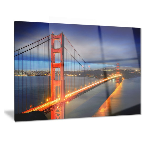 Designart X27 Golden Gate Bridge Landscape Photo Metal Wall Art
