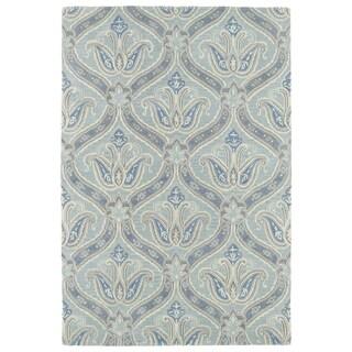 Hand-Tufted Seldon Spa Blue Paisley Rug (9' x 12')