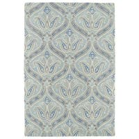 Hand-Tufted Seldon Spa Blue Paisley Rug - 9' x 12'
