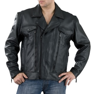 Tanners Avenue Men&39s Black Leather Jean Jacket - Free Shipping