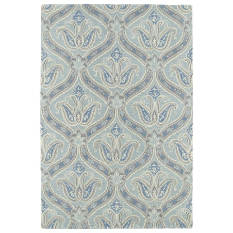 Hand-Tufted Seldon Spa Blue Paisley Rug - 8' x 10'