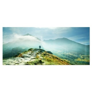 Designart 'Mountains Landscape' Photography Metal Wall Art
